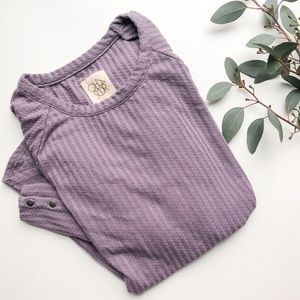 CHASER | Purple Thermal Long Sleeve Tunic Large